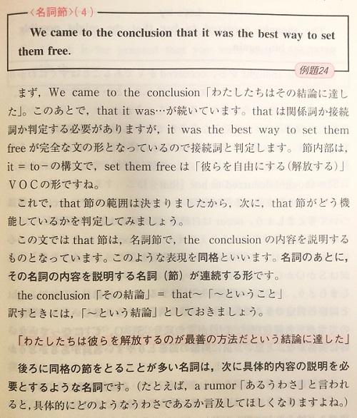 英文読解入門基本はここだの例題と解説