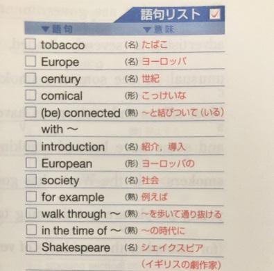 英語長文レベル別問題集の語句リスト