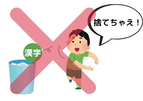 大学受験の漢字を捨てるのはNG