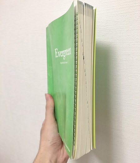 Evergreenの厚さ