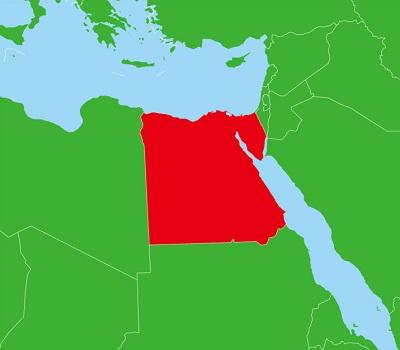 エジプトの地図