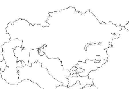 中央アジア・アフガニスタンの地図