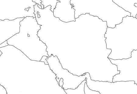 メソポタミア・イランの地図