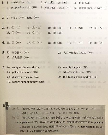 システム英単語チェック問題集の解答と解説